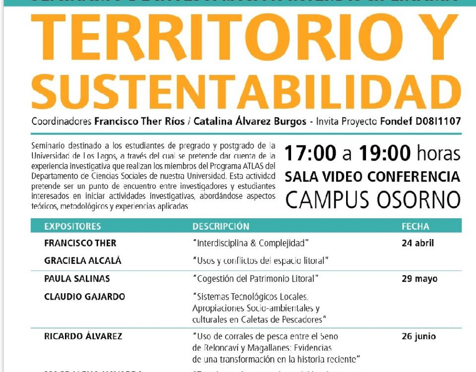 """Seminario de Investigación Interdisciplinario """"Territorio y Sustentabilidad"""" 2012 Primer Semestre"""