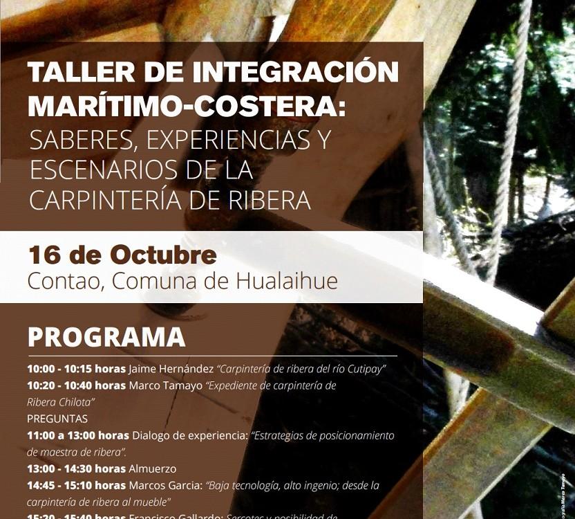 seminario carpinteria de ribera afiche
